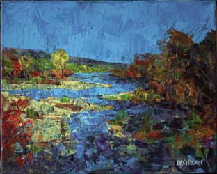 Autumn Stream by NicDeGrootArt