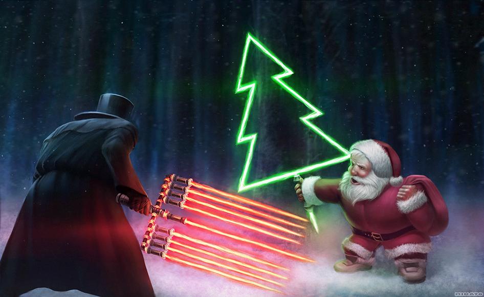 Hanukkah vs. Christmas by NaionMikato ...