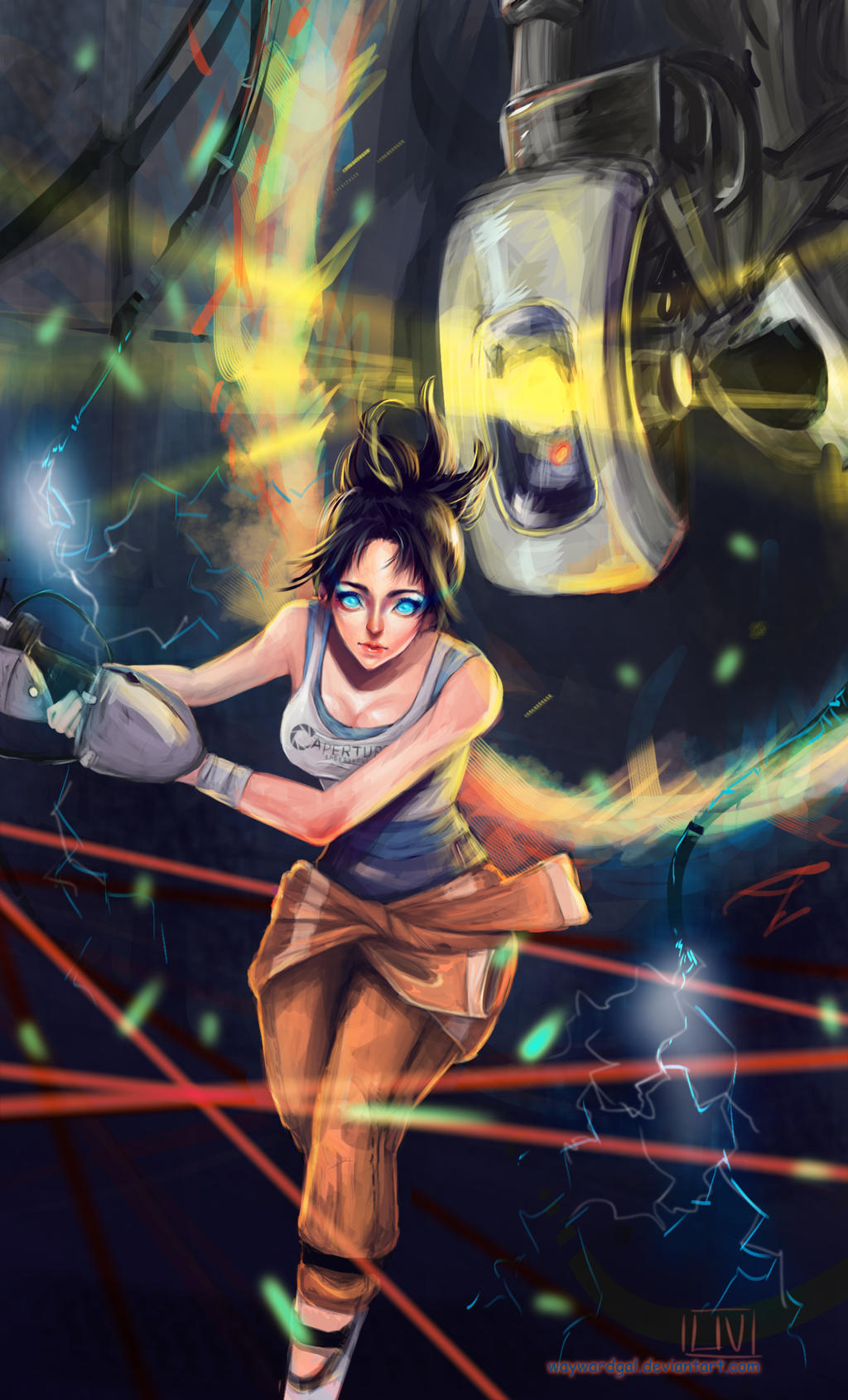 glados and chell relationship problems