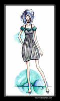Striped dress design