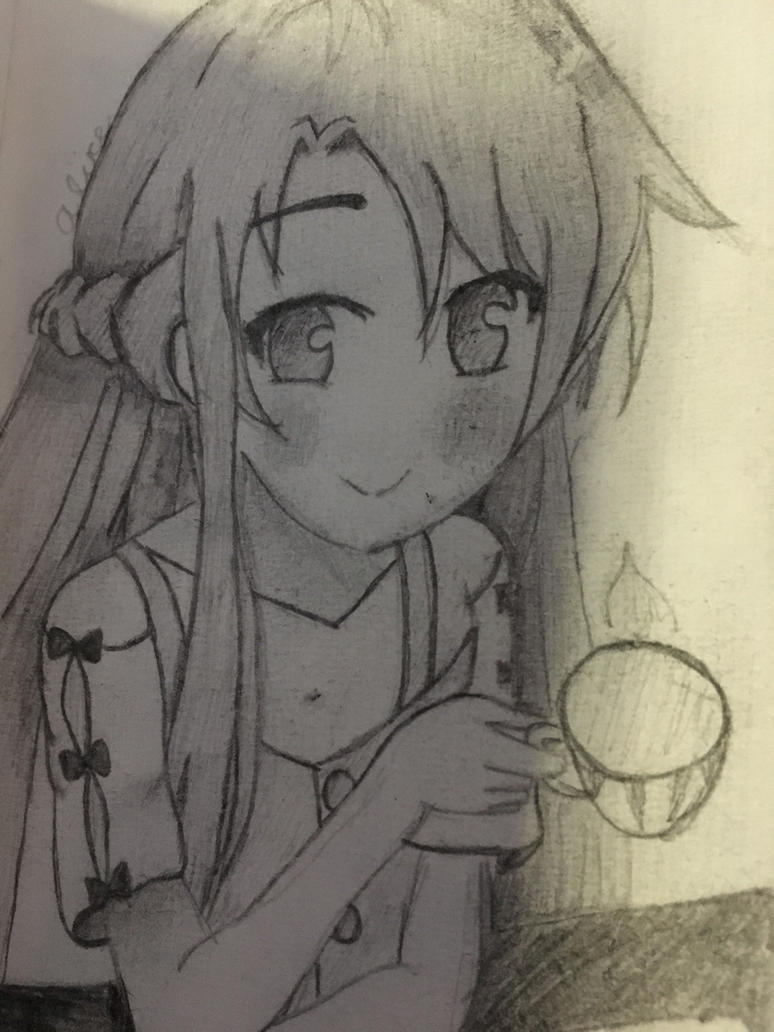 Asuna Sketch  by AliceofLegendCA