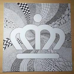Charlotte Crown Zentangle by imthelatvian