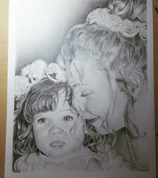 Portrait - Mother  Daughter by imthelatvian