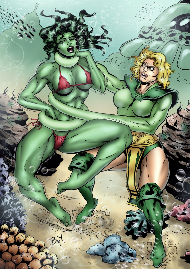 wonder woman and she hulk sex with large tits