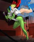 Power Girl vs She-Hulk 2