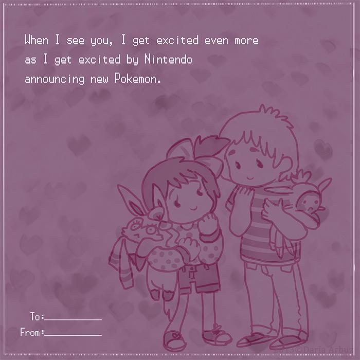 Pokemon Themed Valentine by dar-a