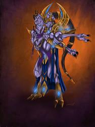 Kaldaris and Xelaris by blue-but-beautiful