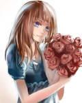 Girl with Flower (tutorial art progress video)