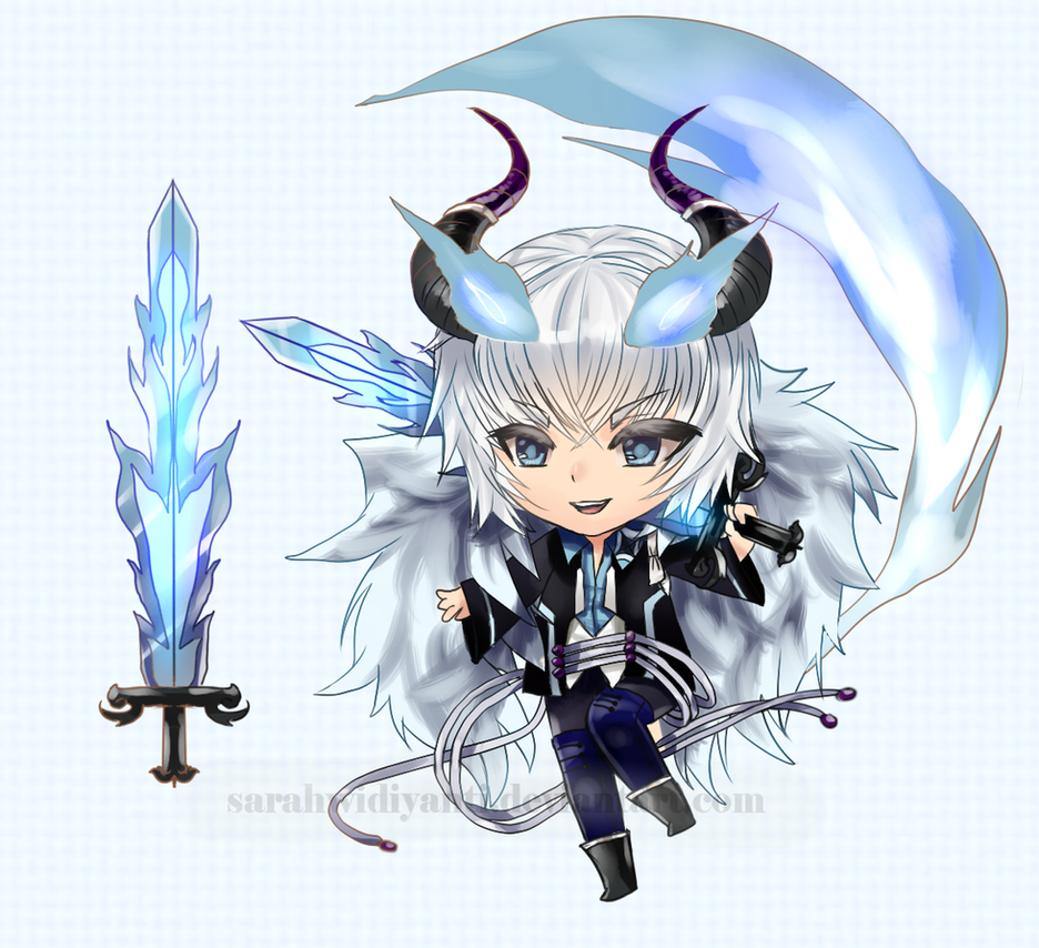 [CLOSED] Auction Adopt 28 The Blue Fire by SarahWidiyanti