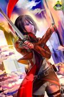 Commission MonsterBox - Mikasa Ackerman by SarahWidiyanti