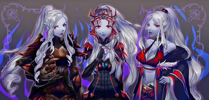 Commission The Drow Sisters