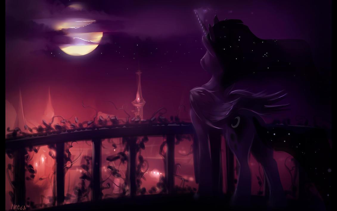 Midnight in Canterlot by Noben