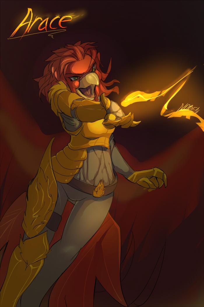 Fire Mage Arace by Noben