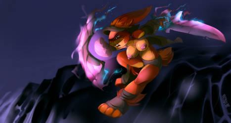 Sword and Board Psychic Warrior Bunny by Noben