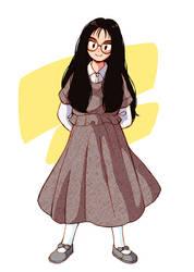 Glasses girl in the 90's