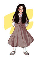 Glasses girl in the 90's by aragon-11