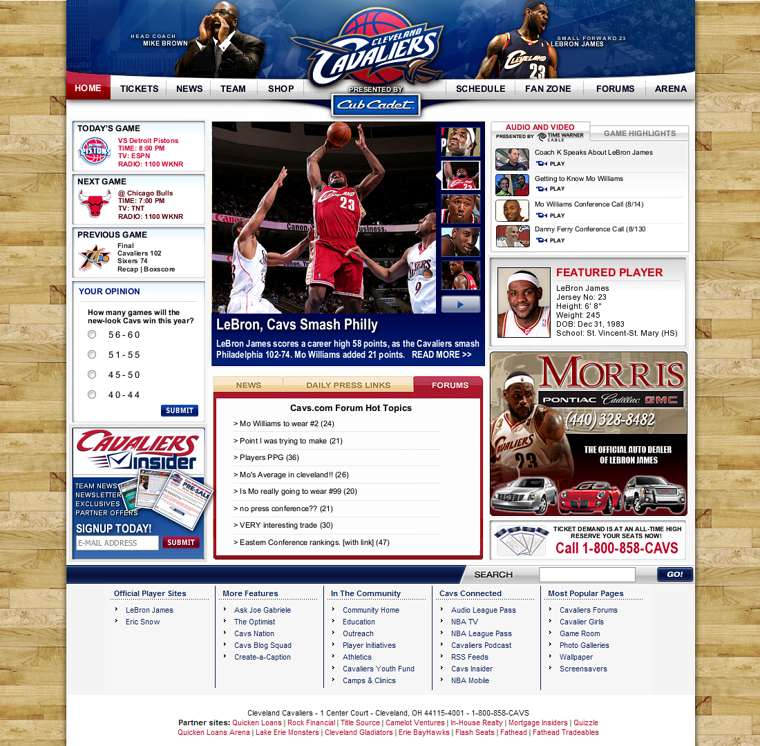 CAVS.com by witnessGFX