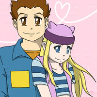 Digimon - J.P. x Zoe by Poefish