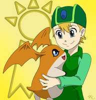 TK and Patamon by Poefish