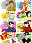 Kanto Gym Leaders by Poefish