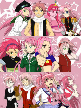 Fave Pink Characters