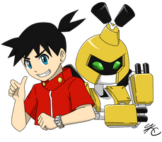 Ikki and Metabee by Poefish