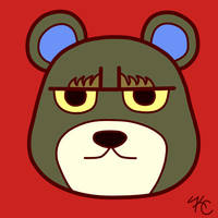 ACNL Grizzly by Poefish
