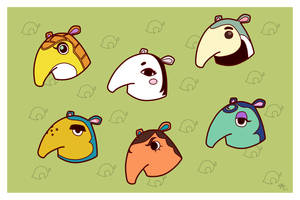ACNL - Anteaters by Poefish