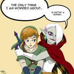 Link and Girahim - The Office by Poefish