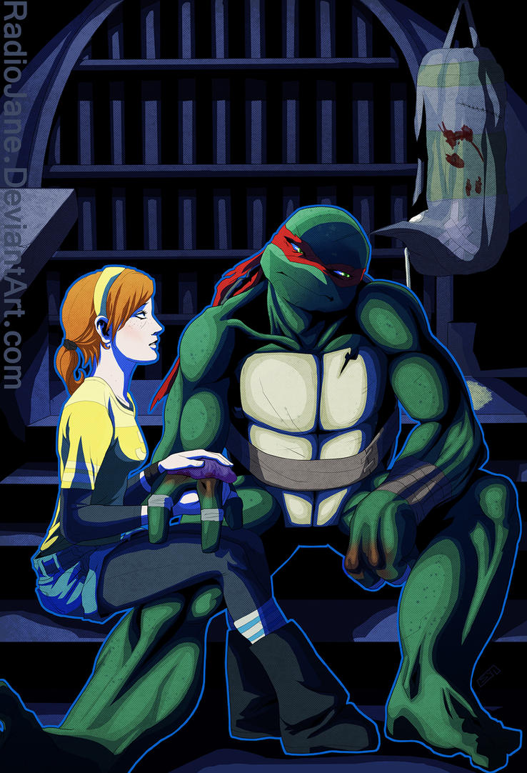 Raph and April - Totally reminds me of the Hulk and his ...