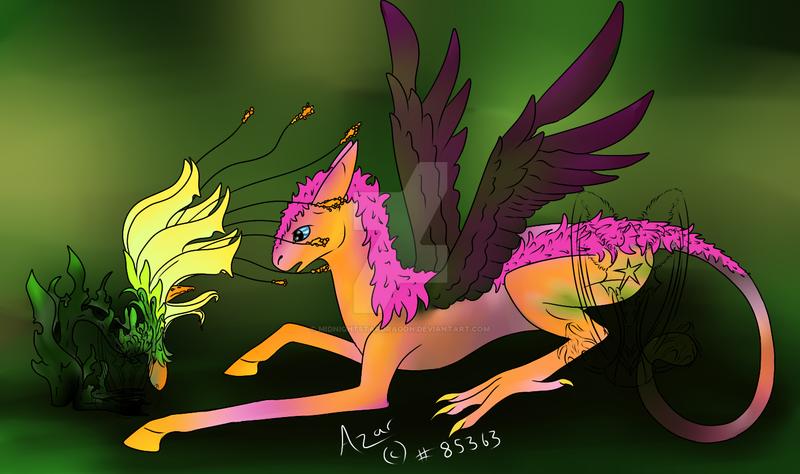 Azar and random sarar flower animal by midnightstardragon