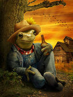 Farmer Frog by ravenscar45