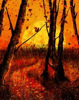 Autumn Sunset by ravenscar45