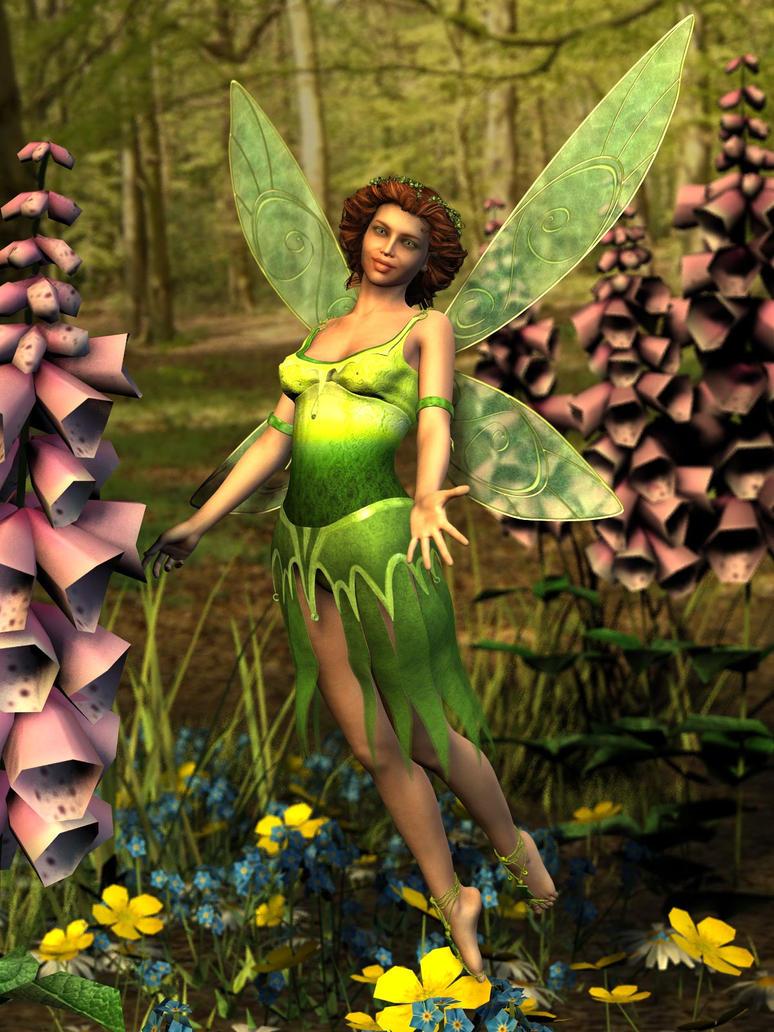 Flower Faerie by ravenscar45