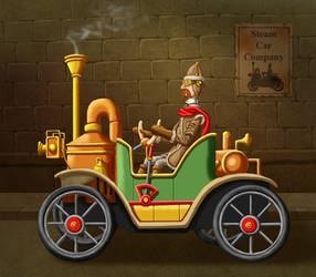 Steam Car by ravenscar45