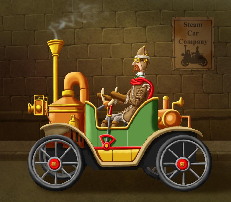 Steam Car by ravenscar45