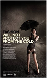 Fashion will not protect you by yagosanz