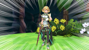 Blonde Hair Pyra (in Mythra's Colors)