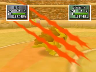 Sandslash using Fury Swipes in Stadium 2.