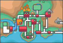the Olivine City region HeartGold and map from by PokemonOnlineGames