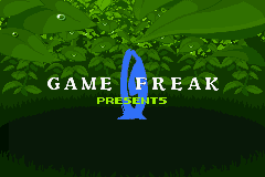 Screen with Game Freak logo in Ruby and Sapphire. by PokemonOnlineGames