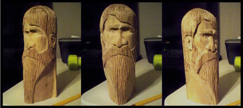 Odin Carving by GraysCreekMedia