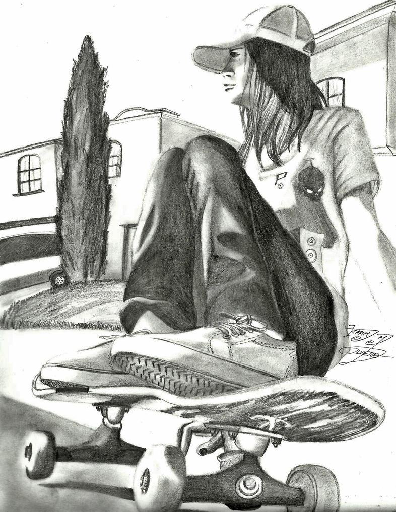 Dibujos A Lápiz De Skate Imagui