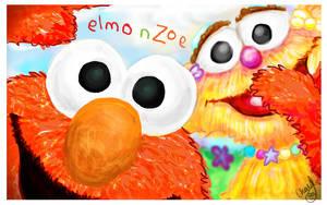 Elmo and Zoe by cherylng