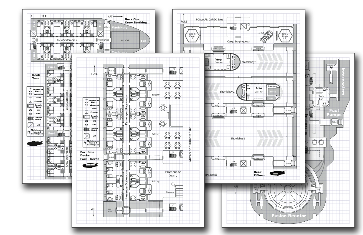 Phoenix Starliner Deckplan Pack For Traveller By