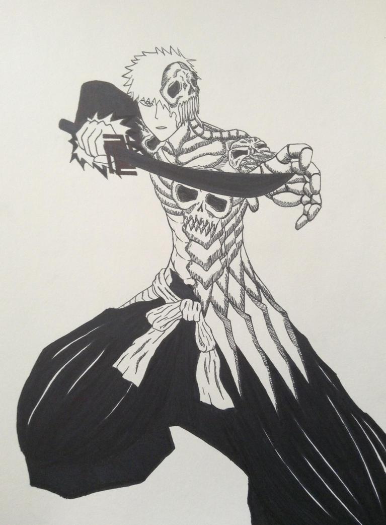 ichigo skull clad by goldenchupacabra on deviantart