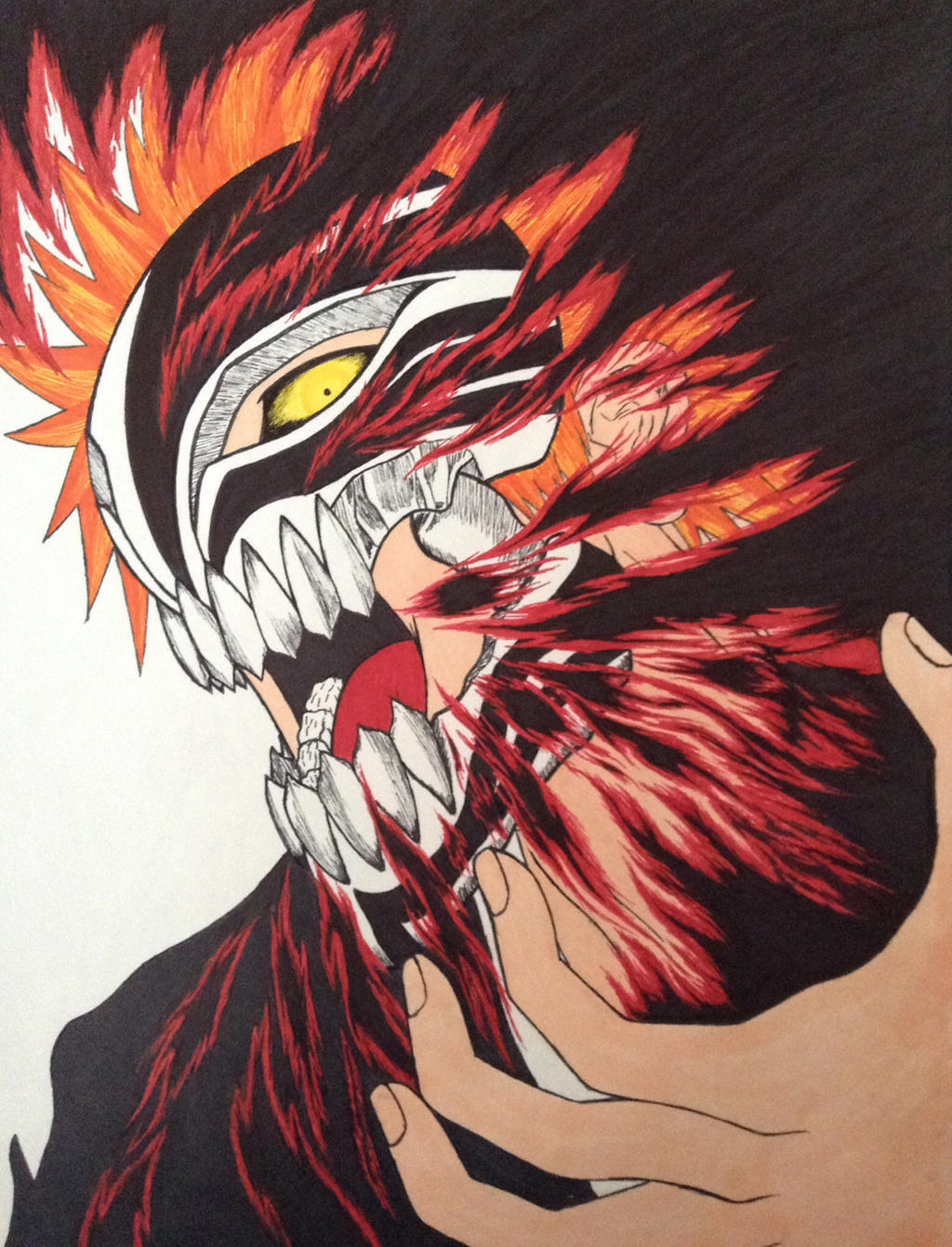Ichigo Hollow Mask by Goldenchupacabra on DeviantArt