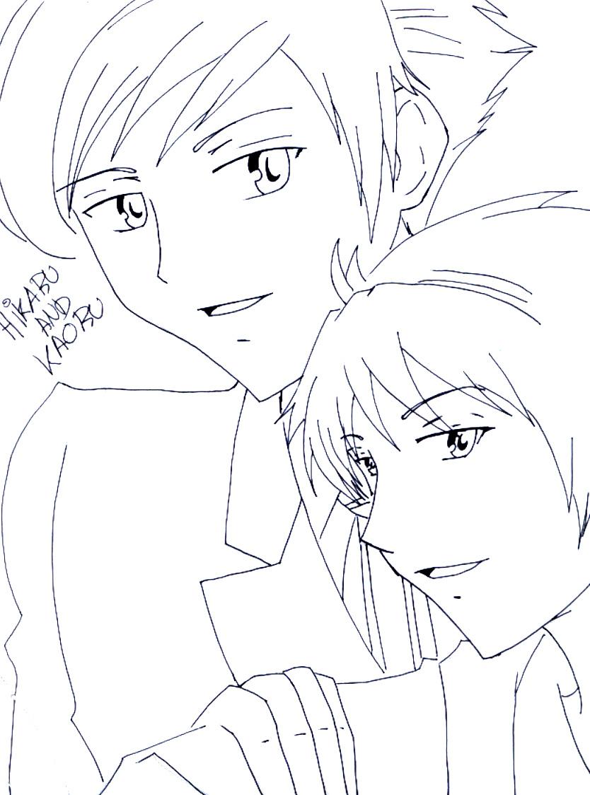 Mis dibujos... Hikaru_and_Kaoru_by_gothicarlekin