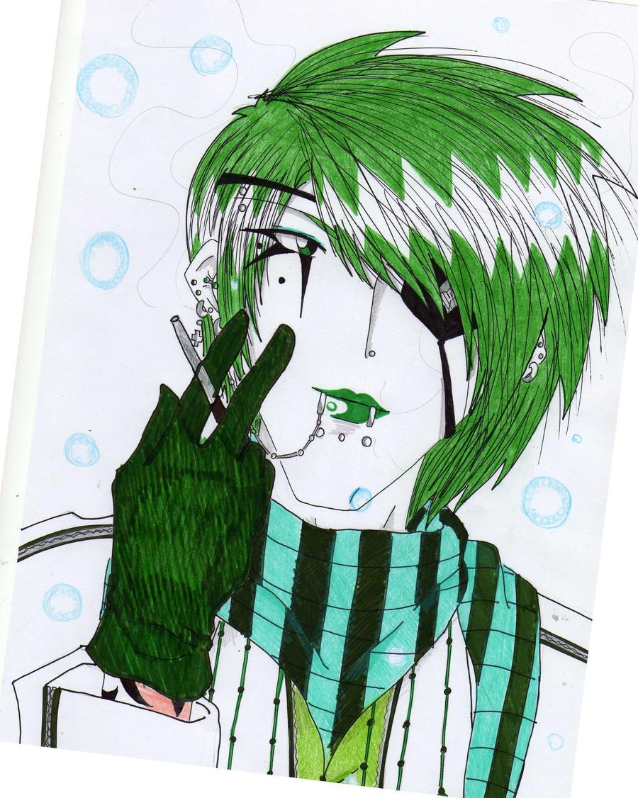 Mis dibujos... Yuma__s_Smoking_by_gothicarlekin