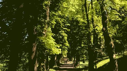Summer colonnade by racik